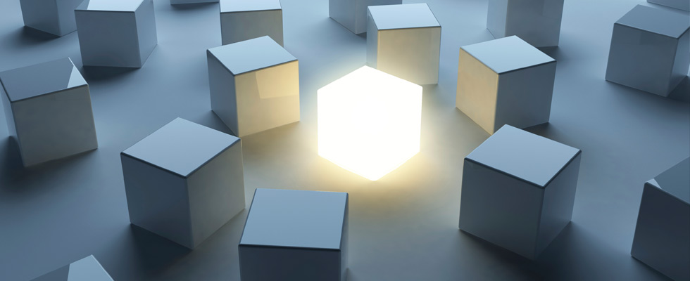 CPA Services Industries: Glowing Cube